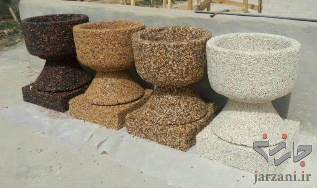 تولید صراحی ، گلدان مرمر و سنگ نما